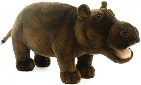 Мягкая игрушка бегемотик Hansa 2887 30 см коричневый искусственный мех мягкая игрушка hansa филин  35 см 3678