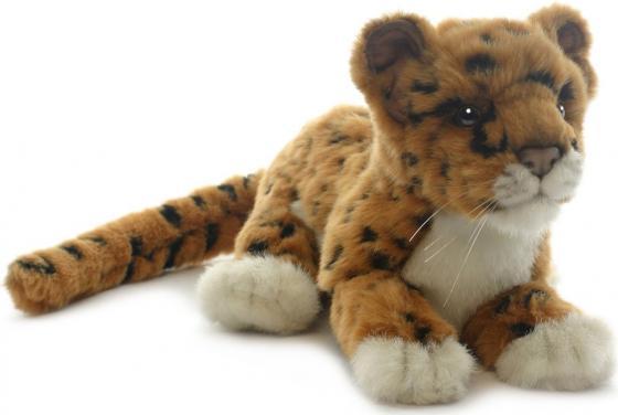 Мягкая игрушка Hansa Детеныш ягуара 26 см коричневый плюш 4093 мягкая игрушка beanie boo s черепашка shellby цвет салатовый коричневый 40 5 см
