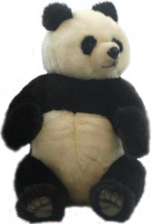 Мягкая игрушка панда Hansa 4473 30 см разноцветный искусственный мех мягкая игрушка медведь hansa 4982 искусственный мех черный 90 см лежащий