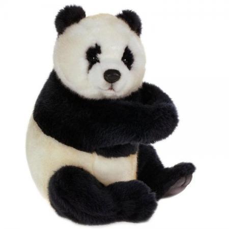 Мягкая игрушка панда Hansa сидящая 25 см искусственный мех 4184 мягкие игрушки hansa обезьянка сидящая палевая 20 см