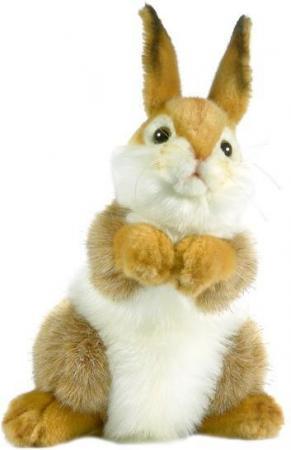 цены Мягкая игрушка кролик Hansa 3316 30 см коричневый искусственный мех