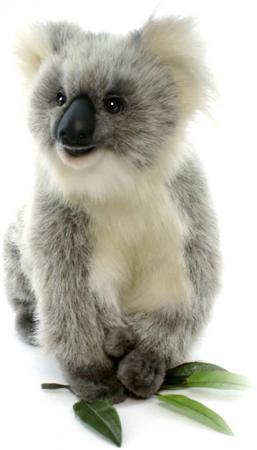 Мягкая игрушка Hansa Счастливая Коала 23 см серый искусственный мех 3637 мягкие игрушки hansa счастливая коала 23 см