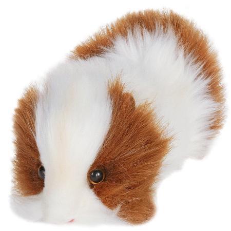 Мягкая игрушка морская свинка Hansa 3735 20 см белый коричневый искусственный мех мягкая игрушка beanie boo s черепашка shellby цвет салатовый коричневый 40 5 см