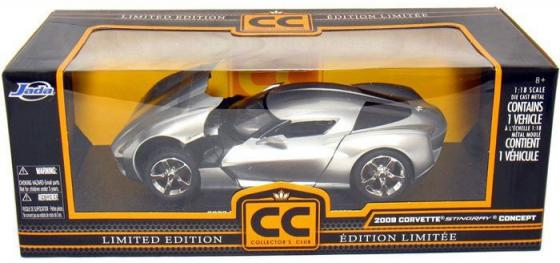 Автомобиль Jada Toys Corvette Stingray Concept - Glossy 1:18 серебристый 96326S автомобиль jada toys corvette stingray concept glossy 1 18 серебристый 96326s