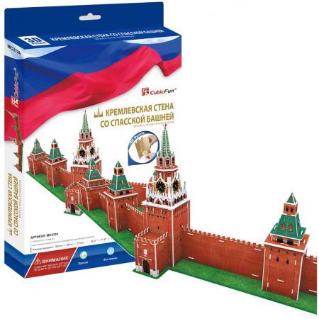 Пазл 3D 106 элементов CubicFun Кремлевская стена со Спасской башней MC212H cubicfun пазл кремлевская стена со спасской башней россия