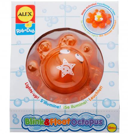 Пластмассовая игрушка для ванны ALEX Осьминог 842S пластмассовая игрушка для ванны alex полярный медвежонок 11 см 841b