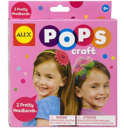Набор для творчества ALEX POPS CRAFT Укрась свой обруч от 5 лет 1198 набор для вязания alex шапки и шарфа от 7 лет 87pn