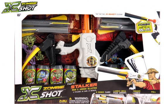 Лук X-shot Зомби (6 банок, 4 стрелоракеты) белый 01165 shot shot стандарт ноты
