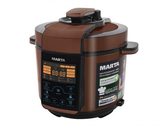 Мультиварка Marta MT-4309 900 Вт 5 л черный медный масляный радиатор marta mt 2422