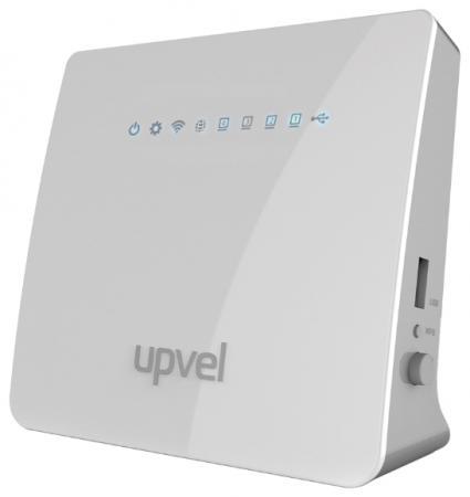 Фото - Беспроводной маршрутизатор Upvel UR-329BNU 802.11n 300Mbps 2.4 ГГц 4xLAN белый модемы