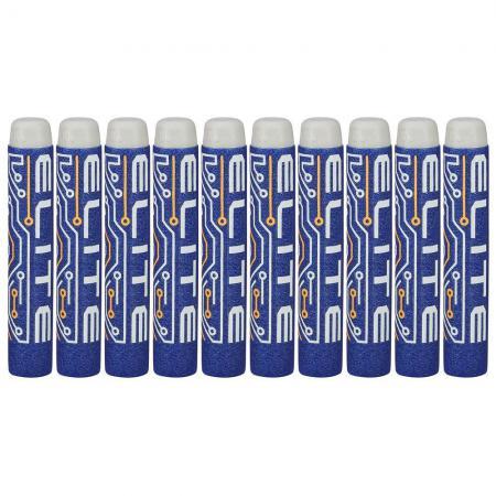 Набор стрел для бластеров Nerf Элит 10 шт для мальчика синий белый 5010994945282 nerf аксессуар для бластеров лазерный прицел