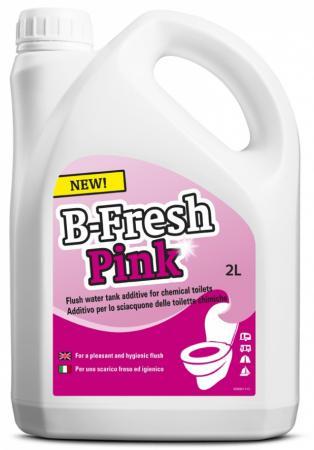 Жидкость для биотуалетов Thetford B-FRESH RINSE для верхнего бака розовая 2л жидкость thetford b fresh blue