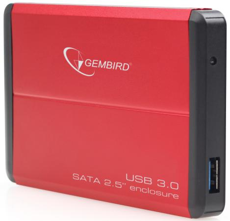 Внешний контейнер для HDD 2.5 SATA Gembird EE2-U3S-2-R USB3.0 красный 2 5 sata usb 3 0 hdd enclosure with pouch black silver super speed 5gbps