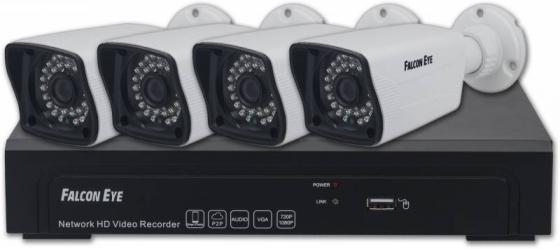 Комплект видеонаблюдения Falcon Eye FE-NR-2104 KIT 4 уличные камеры 4-х канальный видеорегистратор установочный комплект системы видеонаблюдения falcon eye комплект видеонаблюдения falcon eye nr 2104kit