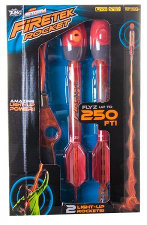 Ракеты Zing с подсветкой для мальчика красный AS999 с пусковым устройством лук zing zing air z bow
