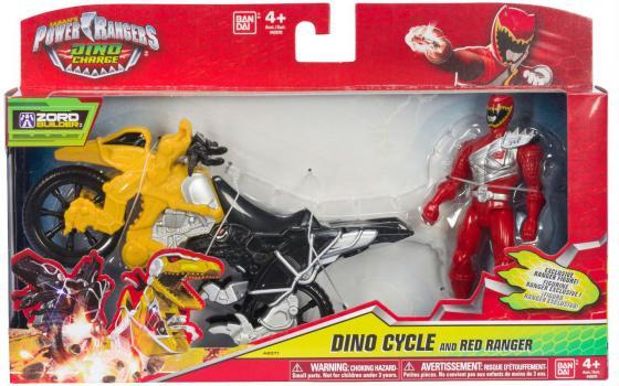 Игровой набор BANDAI Могучие рейнджеры мотоцикл +12 см фигурка 2 предмета в ассортименте