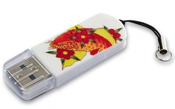 Флешка USB 32Gb Verbatim Mini Tattoo Koi 49897 USB2.0 белый с узором