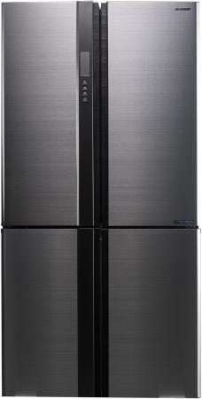 Холодильник Sharp SJ-EX98FSL серебристый холодильник sharp sj b236zr wh белый
