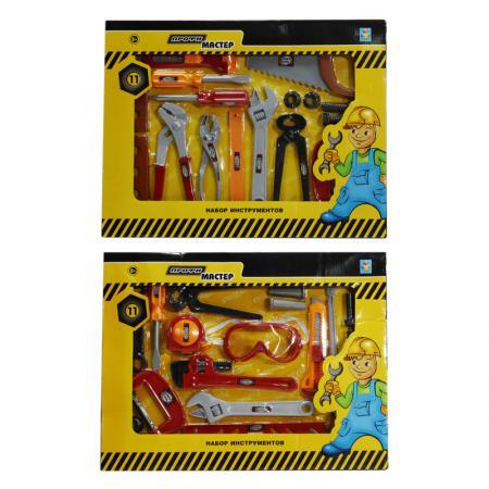 Набор инструментов 1Toy Профи-мастер 11 предметов Т56251 в ассортименте игровой набор 1toy профи мастер набор инструментов т56251