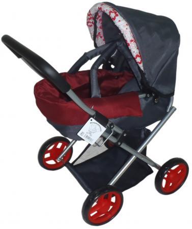 Коляска для кукол 1Toy Т57327 1toy транспорт для кукол коляска цвет синий