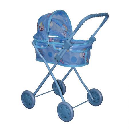 Коляска для кукол 1Toy Т53129 1toy транспорт для кукол коляска цвет синий
