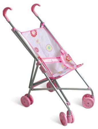 Коляска для кукол 1Toy Т52257 1toy транспорт для кукол коляска цвет синий