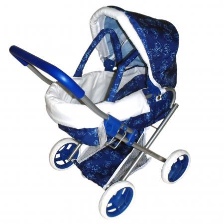 Коляска для кукол 1Toy Т57326 1toy транспорт для кукол коляска цвет синий