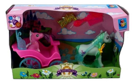 Набор фигурок 1Toy Пониландия - 2 пони с каретой Т56371 аксессуары для кукол 1toy два пони с коляской и аксессуарами пониландия