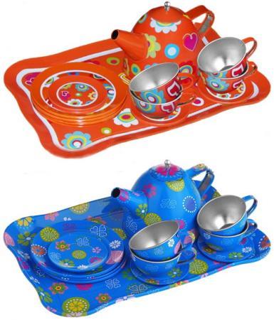 Чайный набор 1toy Я сама металлическая 9438 в ассортименте: игрушечная посуда 1toy игровой чайный сервиз я сама 1toy