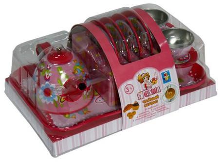 Чайный набор 1toy Я сама Т57245 игрушечная посуда 1toy игровой чайный сервиз я сама 1toy