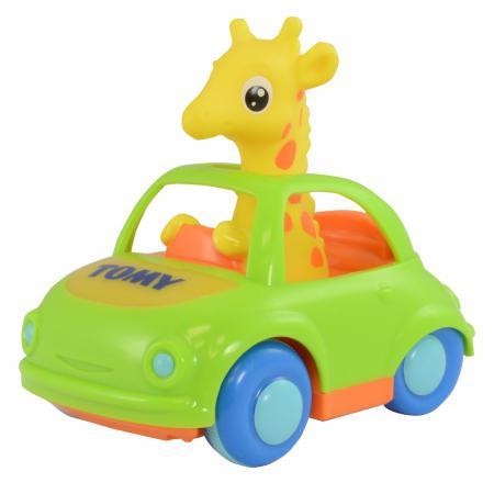 Музыкальная игрушка Tomy Веселый Жираф-Водитель 4894001917728 tomy электронная машинка со светом и звуком веселый жираф водитель