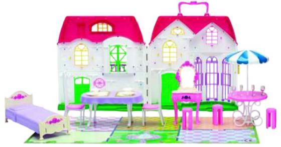 Игровой набор 1Toy Красотка дом для кукол 28 предметов Т56586 игровые наборы 1toy игровой набор красотка с феном расческа зеркало заколки аксессуары