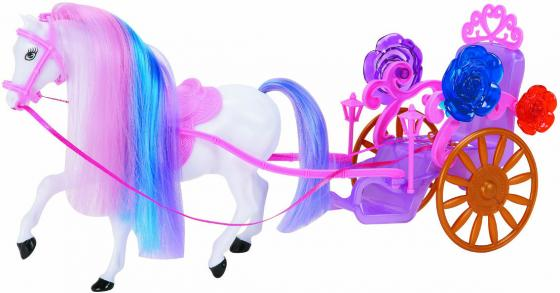 Карета для кукол «Красотка» (1-местная, с лошадью) Т53235 1toy 1toy карета с лошадью для кукол 1 местн т53235