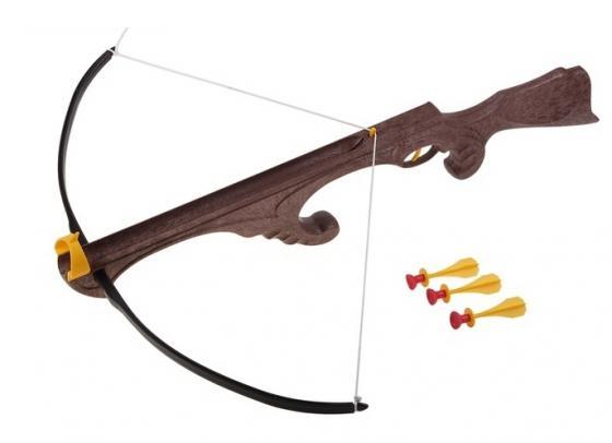 Арбалет Bauer Викинг с тремя стрелами на присосках коричневый кр099 abtoys со стрелами на присосках