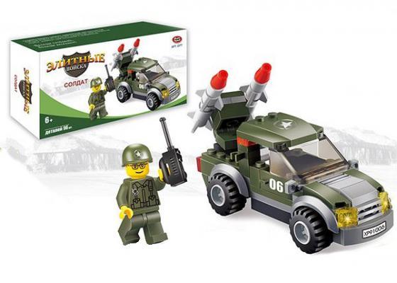 Конструктор Play Smart Элитные войска - Cолдат 96 элементов 2377 play smart набор военной техники с солдатами play smart битва рас 34см арт 3035 к35510