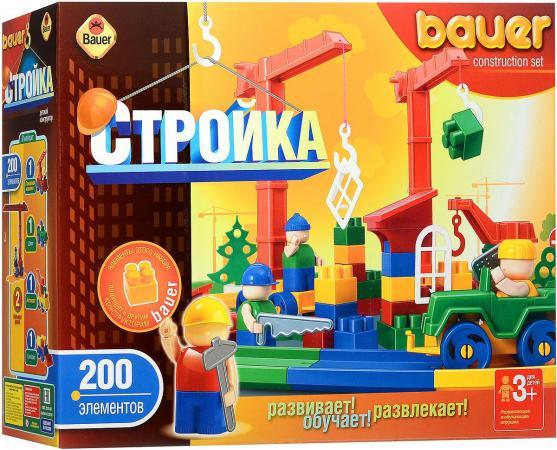 Конструктор Bauer Стройка 200 элементов 203 203. игрушка конструктор bauer avia 319 188083