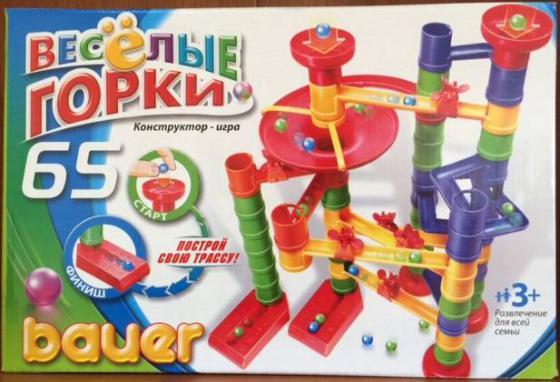 Конструктор Bauer Весёлые горки 65 элементов 273 bauer bauer конструктор avia 200 элементов