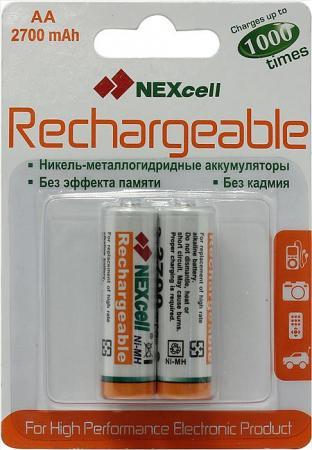 Аккумуляторы 2700 mAh Nexcell AA-2700-2 AA 2 шт зарядное устройство duracell cef14 аккумуляторы 2 х aa2500 mah 2 х aaa850 mah