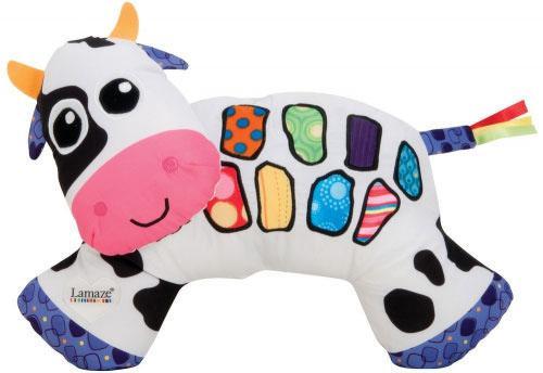 Мягкая игрушка корова Tomy Lamaze Музыкальная коровка LC27560 21 см разноцветный текстиль пластик 83094 tomy lamaze ночник детский сова tomy lamaze