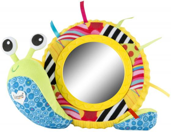 Мягкая игрушка улитка Tomy Lamaze Улитка Мишель с зеркальцем ТО27168 разноцветный текстиль пластик 83094 lamaze улитка мишель с зеркальцем