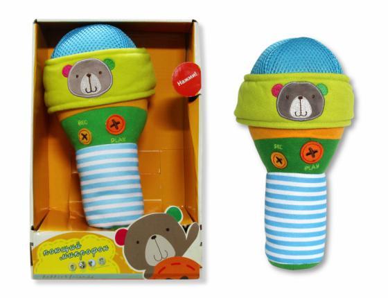 Интерактивная игрушка 1Toy Плюшевый микрофон bobbie & friends с тремя режимами воспроизведения голоса от 6 месяцев разноцветный Т57148 мульти пульти набор фломастеров енот во франции 10 цветов