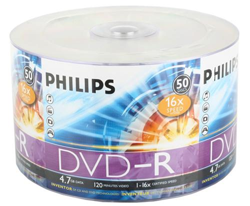 Диски DVD-R Philips 16x 4.7Gb VS Bulk 50шт диски cd dvd thunis dvd r dvd r 16x 25