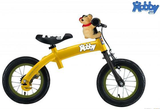 Велобалансир-велосипед двухколёсный Hobby Bike RToriginal ALU NEW 2016 желтый hobby bike rt fly а