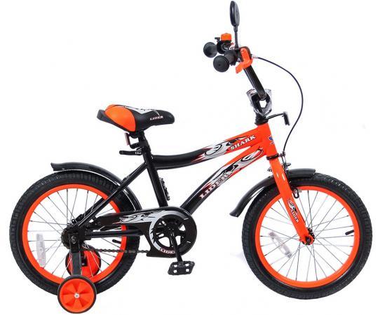 """Велосипед двухколёсный Velolider LIDER SHARK 16"""" 16A-1687OR оранжевый/черный"""