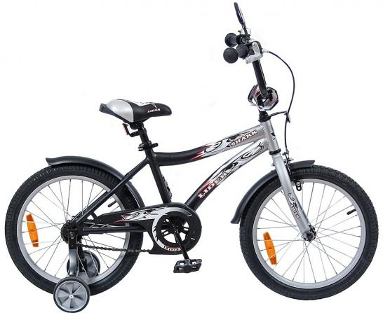 "Велосипед двухколёсный Velolider LIDER SHARK 18"" 18A-1887GR серый/черный"