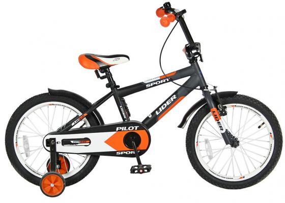 Велосипед двухколёсный Velolider LIDER PILOT 18 LP18HO MATT черный/оранжевый велосипед velolider rush army 18 ra18 хаки