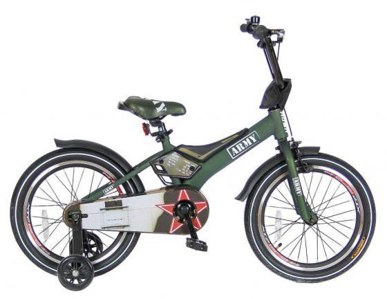 Велосипед двухколёсный Velolider RUSH ARMY 16 RA16 хаки velolider ra16 2 х колесный велосипед 16 rush army хаки