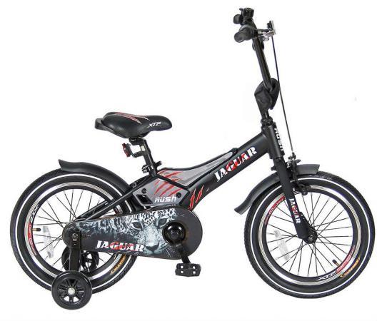 """Велосипед двухколёсный Velolider RUSH JAGUAR 16"""" черный RJ16 велосипед velolider lider stark 12 двухколёсный 12u 009yh желтый черный"""