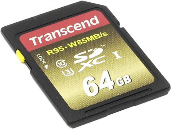 Карта памяти SDXC 64Gb Class 10 Transcend TS64GSDU3X цена 2017