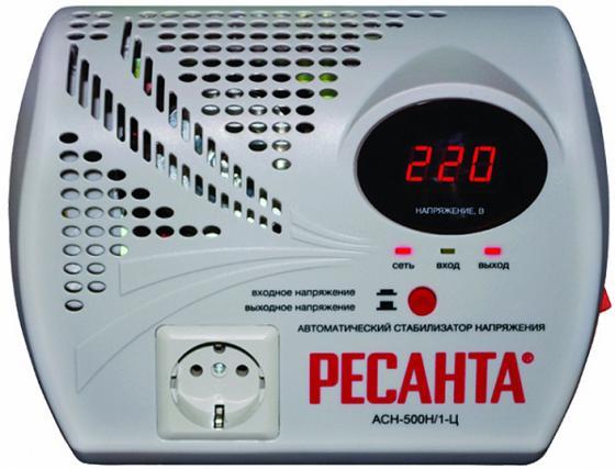 Стабилизатор напряжения Ресанта ACH-500Н/1-Ц 1 розетка стабилизатор напряжения ресанта ach 10000 1 ц 1 розетка серый
